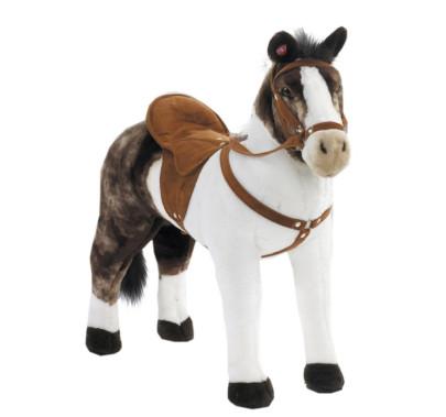 Happy People Spielzeug Pferd Pinto in weiß/braun, mit Sound, Sattelhöhe ca. 48 cm ohne Extras