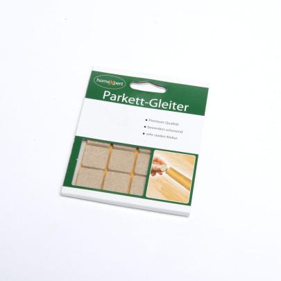 homeXpert 16er Set Parkettgleiter PREMIUM, Filzgleiter, Möbelgleiter, Stuhlbeingleiter, stark selbstklebend, 20 x 20 mm, hellbraun