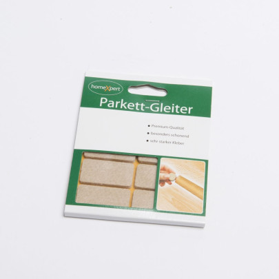homeXpert 8er Set Parkettgleiter PREMIUM, Filzgleiter, Möbelgleiter, Stuhlbeingleiter, stark selbstklebend, 20 x 40 mm, hellbraun