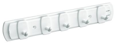 homeXpert Hakenleiste, Schlüsselleiste DUETTO, weiß, 22 cm breit, 5 Haken, Handtuch Haken, Badezimmer weiß   5 Haken, 22 cm