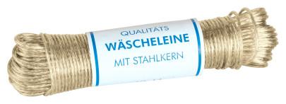 homiez Wäscheleine mit Vollstahleinlage, Stärke 3,5 mm Länge: 50 m ummantelt 50000