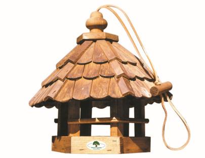 "HOUSE & GARDEN Holz-Vogelfutterhaus ""Feldlerche"" 35 x 31 x 37 cm"