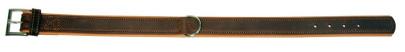 Hunde-Halsband VEGAS HQ, 35 mm / 46 cm braun