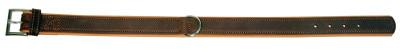 Hunde-Halsband VEGAS HQ, 35 mm / 50 cm braun