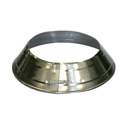 KaminoFlam® Ofenrohrrosetten vernickelt 135-165 mm