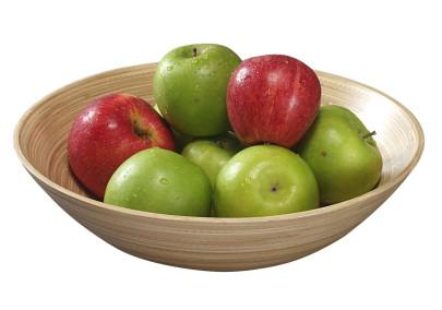 Kesper Obst-und Gebäckschale, Holzschale, Servierschale, hell, aus Bambus, Höhe: 90 mm, Ø 300 mm 300,00 | Anzahl: 1 Stück