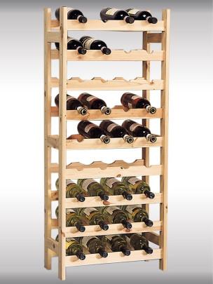 Kesper Weinflaschen-Regalsystem, Flaschenregalsystem, Flaschenhalter, aus FSC®- Kiefernholz, 510 x 270 x 1200 mm, natur