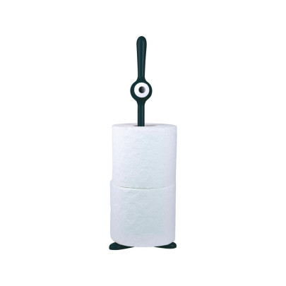 Koziol Papierrollenhalter TOQ, schwarz
