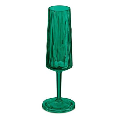 Koziol Sektglas CHEERS NO. 5, 100ml, Superglas by Koziol, Diamant-Optik, hohe Isolierung, spülmaschinengeeignet, bruchresistent, grün