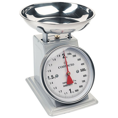Küchenwaage analog, grau, 2kg | Contacto