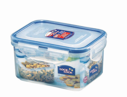 Lock & Lock Frischhaltedose, Brotzeitdose, Vorratsdose, Kunststoff transparent, 470 ml, rechteckig, 135 x 102 x 68 mm
