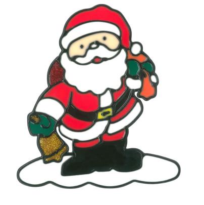 magicgel fensterbilder weihnachten weihnachtsmann 15 x. Black Bedroom Furniture Sets. Home Design Ideas