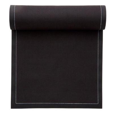 MYdrap Baumwoll Cocktail-Servietten 11 x 11 cm, schwarz, 50 Stück pro Rolle schwarz | Anzahl: 1 Rolle