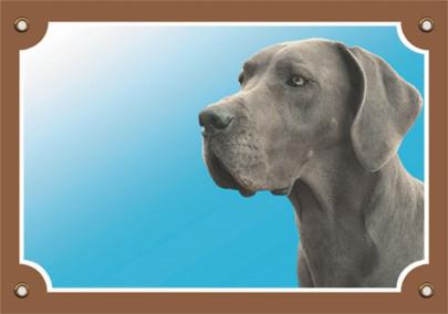 Nobby Warntafel Dogge grau, 1 Stück