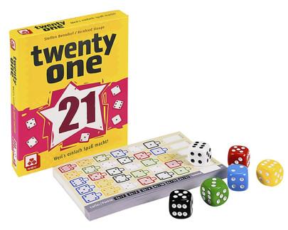 Nürnberger Spielkarten Würfelspiel Twenty One, lustiges Familien-Spiel, Made in Germany