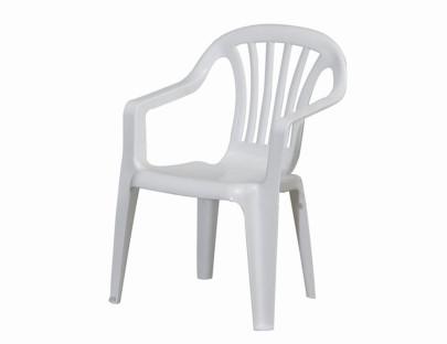 PROGARDEN Kinder-Stapelsessel \´´Sedia Baby\´´, Kinder-Gartenstuhl, Kinder-Stapelstuhl, 38 x 38 x 52 cm, in weiß, aus Ku