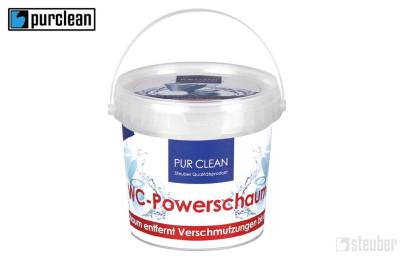purclean WC-Powerschaum - WC Reiniger entfernt Verschmutzungen bis unter den Rand, 900 g