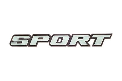 Relief-Emblem Sport Auto Schriftzug