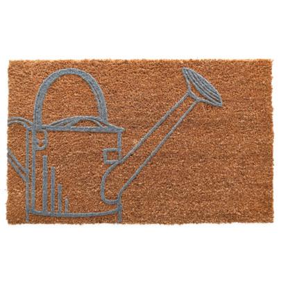 Rivanto® Kokosmatte Giesskanne aus Kokosfaser/Kunststoff, 60 x 40 x 1,5 cm, Fußabstreifer, Fußabstreifer, Schuhabstreifer, Schuhmatte