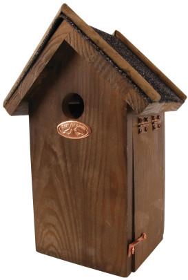 Rivanto® Nistkasten Blaumeise mit Bitumen Dach, 12 x 17 x H27 cm, Vogelhaus Anzahl: 1 Stück