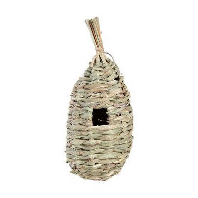 Rivanto® Seegras Nestbeutel für Zaunkönig zum Aufhängen, Eingang 27 mm, Ø 12 x H29 cm, Größe L 290