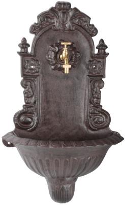 *NEU*: Wandbrunnen aus Gusseisen, mit Hahn, antik-braun