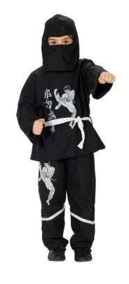 RUBIE´S Faschingskostüm - Black Ninja 3-teilig, Größe: 104