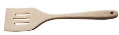 Scanwood Pfannenwender aus Buchenholz, geschlitzt, Länge 30,5 cm, natürliche Holzmaserung
