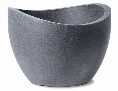 SCHEURICH Wave Globe 50x50x37,1cm schwarz granit