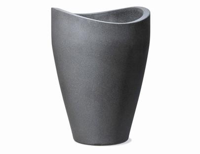 SCHEURICH Wave High 50x50x67cm schwarz granit