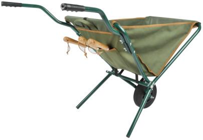 Schubkarre faltbar, textil grün | Esschert Design