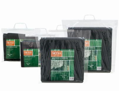SIENA GARDEN Anti-Unkrautvlies 0,8 x 10 m 30 g, SB, schwarz mit Trennvlies