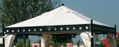 SIENA GARDEN Ersatzdach für Pavillon Korfu, original Ersatzteil, 3,5 x 3,5m, PU-beschichtet, wasserabweisend, Farbe natu