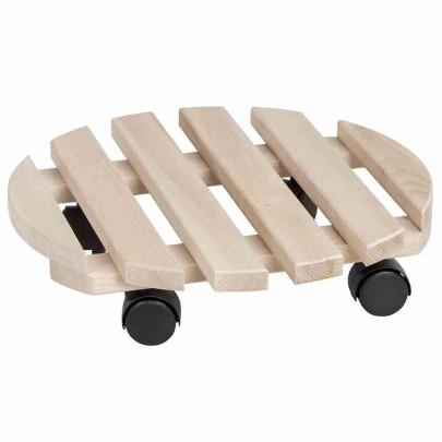 5 Stück SIENA GARDEN Holz-Rolluntersetzer aus B...