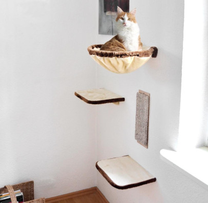 Silvio Design Katzen-Kletterwand, 4-teilig, ca....