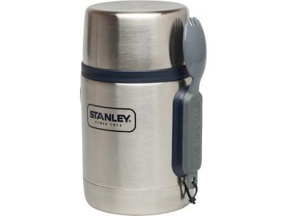 Stanley Adventure Vakuum Food Container, 532 ml, 18/8 Edelstahl, Vakuum-Isolation, Essbesteck, Kleinteilefach