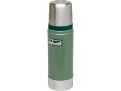Stanley Classic, Vakuum-Flasche, 0.47 Liter, 18/8 Edelstahl Hammertone grün, Vakuum-Isolation, Trinkbecher