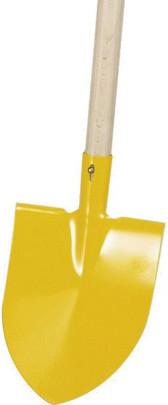 Star 40161 Kinderspitzschaufel gelb 14 cm breit,Holzstiel 75 cm