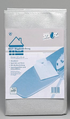 STAR - Bügelbrettbezug 125x43cm Alu 1621E