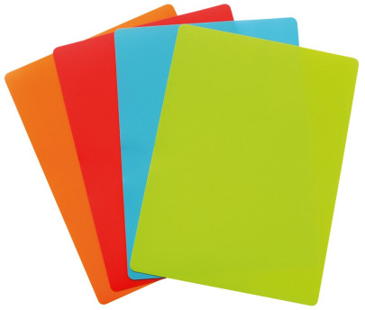 Steuber 4er Set Flexible Schneidematten, 38 x 28 cm Kräftige Farben