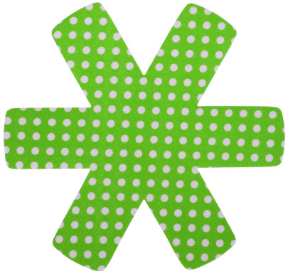 15 Stück Steuber (5 x 3er Set) Pfannenschutz 38 x 38 cm, Stapelhilfe und Kratzschutz für Pfannen, grün grün-weiß | Anzahl: 5 Sets