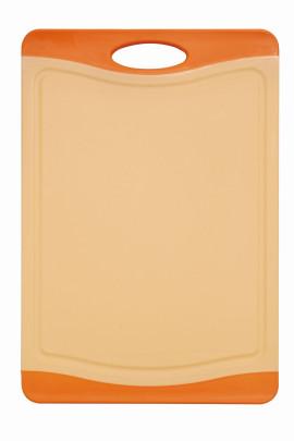 culinario Schneidebrett Limette mit Saftrinne, 44 x 30 cm, orange 44,5 x 30,5 cm | orange