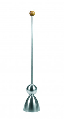 Take2 Clack Eierschalensollbruchstellenverursacher aus Edelstahl, Ø 4 x 24 cm, Eierköpfer Holz