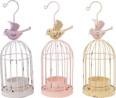 TEELICHTERSTÄNDER BIRDY, 3er Set, Metall