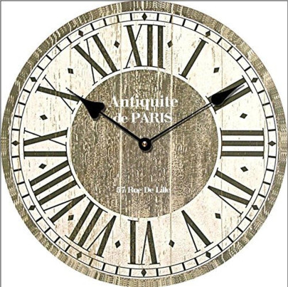 Tinas Collection Wanduhr 4 Antiquite de Paris im Shabby Look, 30 cm Ø