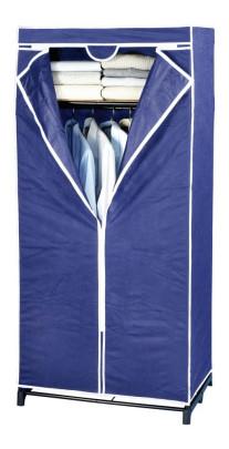 Wenko Kleiderschrank Air mit Ablagefach - atmungsaktives Vlies, 75 x 160 x 50 cm, dunkelblau