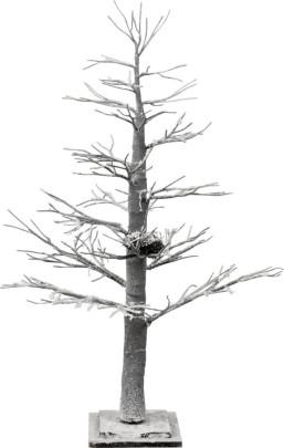 WINTERBAUM, Holz, 60 x 60 x 110 cm