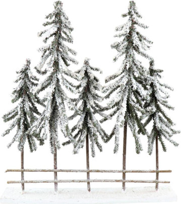 WINTERWALD, Holz, Polyresin