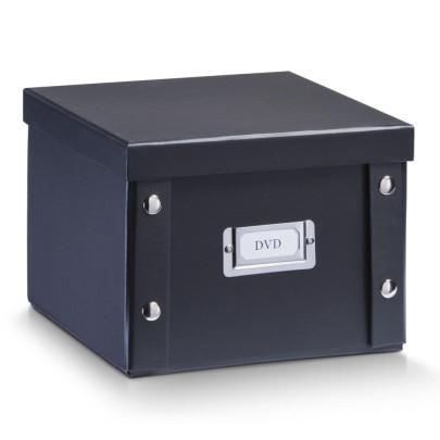 Zeller DVD-Box, DVD-Kiste Pappe, schwarz