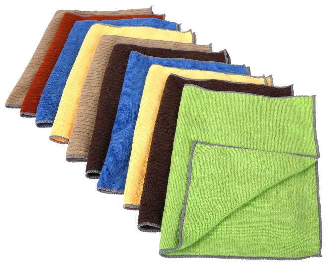 10er Pack purclean Mikrofasertuch aus Polyester, 30 x 40 cm, farbig sortiert